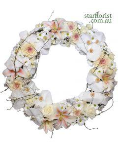 Extra Large White Sympathy Wreath